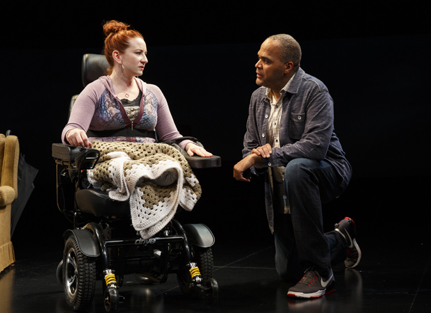 Katy Sullivan and Victor Williams in Martyna Majok's Cost of Living at New York City Center — Stage I.