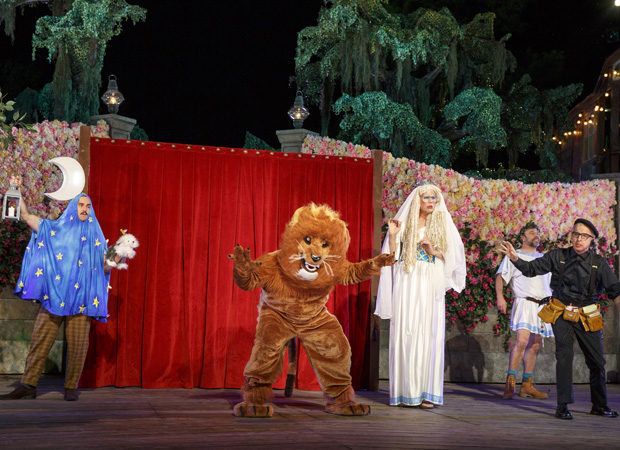 A scene from Lear deBessonet's production of A Midsummer Night's Dream at the Delacorte Theater in Central Park.