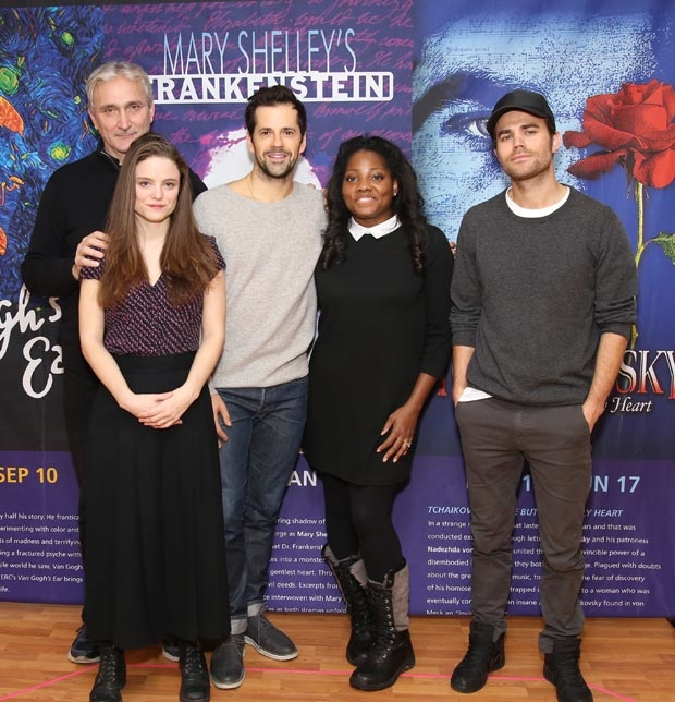 Rocco Sisto, Mia Vallet, Robert Fairchild, Krysty Swann, and Paul Wesley of Mary Shelley's Frankenstein meet the press.