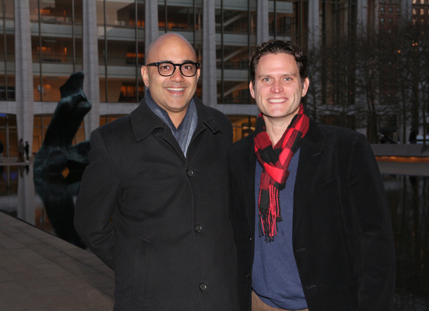 Playwright and star of Broadway's Junk at Lincoln Center: Ayad Akhtar and Steven Pasquale.