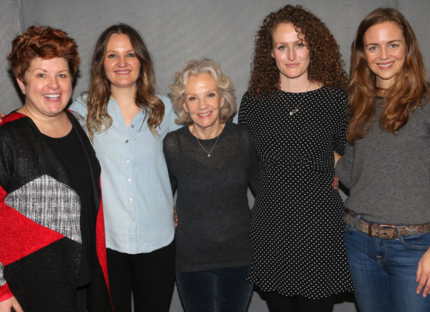 The cast of Party Face: Klea Blackhurst, Gina Costigan, Hayley Mills, Brenda Meany, Allison Jean White.