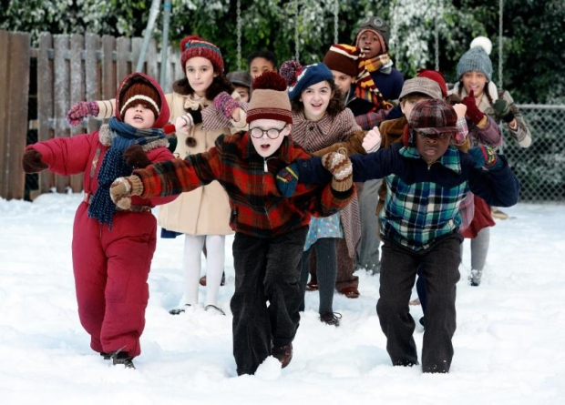 Andy Walken (center) leads the cast of A Christmas Story Live! on Fox.