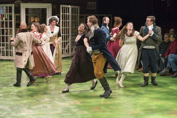 The cast of Bedlam's Sense and Sensibility, directed by Eric Tucker, at the American Repertory Theater.