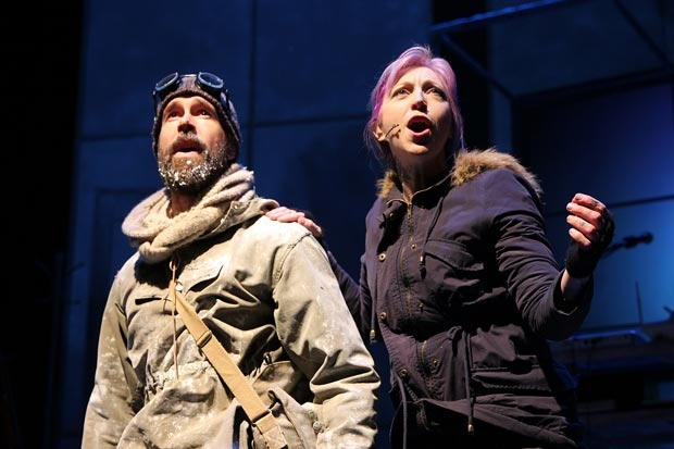 Wade McCollum and Valerie Vigoda in Ernest Shackleton Loves Me, which will be releasing a cast recording in February.