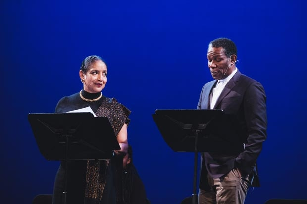 Phylicia Rashad and John Douglas Thompson led the cast in a reading of Antony and Cleopatra at Public Shakespeare Presents: To Imagine an Antony – Shakespeare's Infinite Fancy.