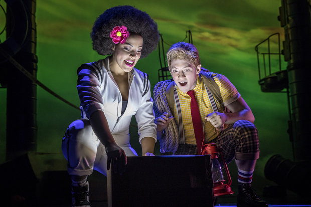 Lilli Cooper plays Sandy Cheeks, and Ethan Slater plays the title role in SpongeBob SquarePants on Broadway.