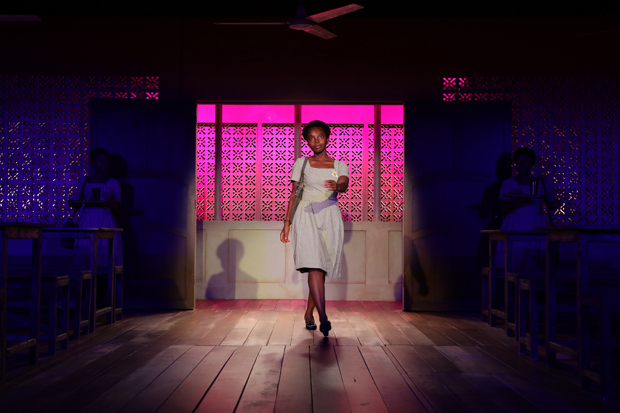 MaameYaa Boafo in Jocelyn Bioh's School Girls; or, The African Mean Girls Play