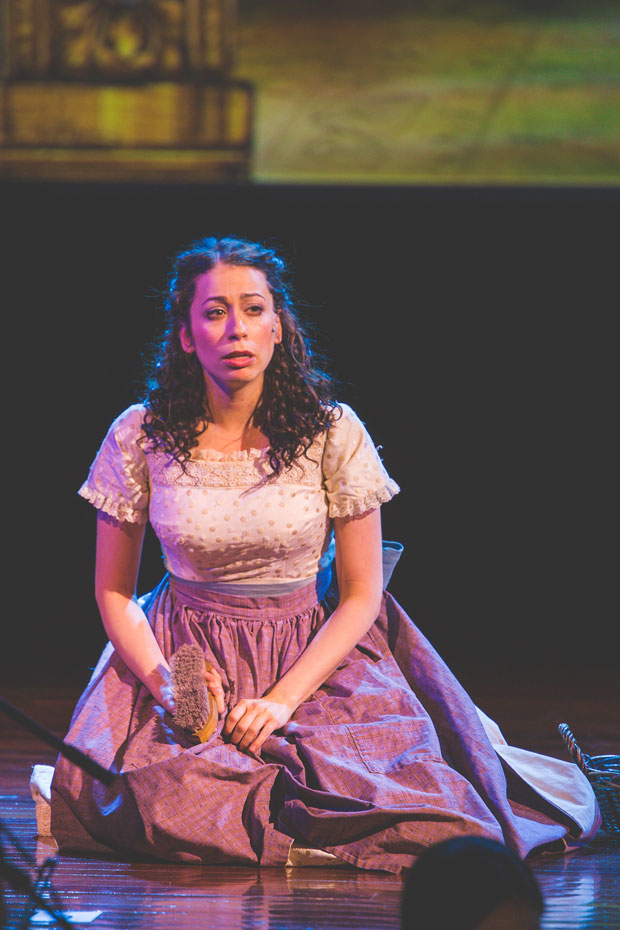 Stephanie Lynne Mason stars as Mirele in the National Yiddish Theatre Folksbiene production of The Sorceress.