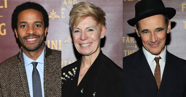 André Holland and Mark Rylance will star in Othello, directed by Claire van Kampen (center).