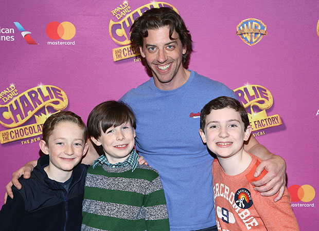 Christian Borle with Ryan Foust, Jake Ryan Flynn, and Ryan Sell.