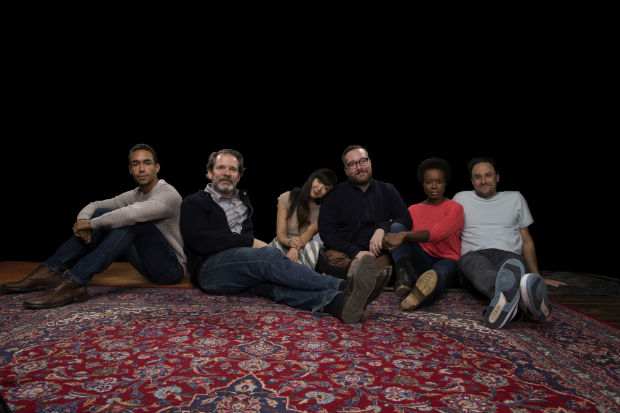The cast of The Amateurs, making its world premiere at the Vineyard Theatre this February.