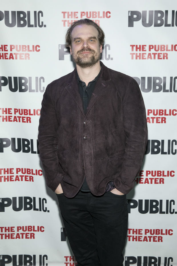 Stranger Things star and Public Theater favorite David Harbour was in attendance.