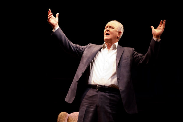 John Lithgow stars in his solo show John Lithgow: Stories by Heart, directed by Daniel Sullivan, at the American Airlines Theatre.