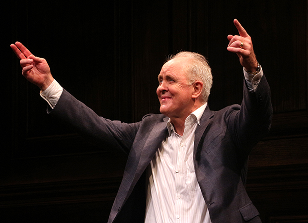 John Lithgow takes a bow as his solo show Stories By Heart opens on Broadway.