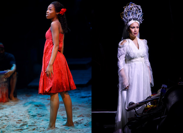 Hailey Kilgore and Lea Salonga in Once on This Island on Broadway.