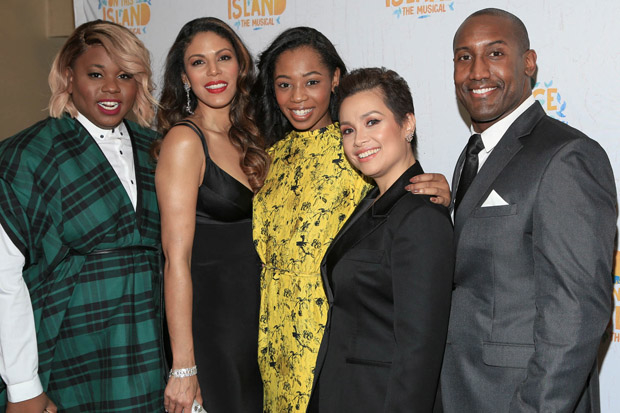 Alex Newell, Merle Dandridge, Hailey Kilgore, Lea Salonga, and Quentin Earl Darrington at the opening night of Once on This Island.