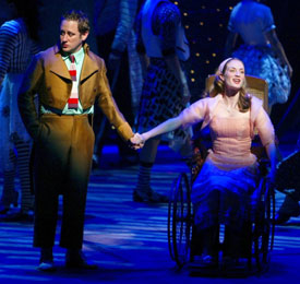 Christopher Fitzgerald and Michelle Federer in Wicked