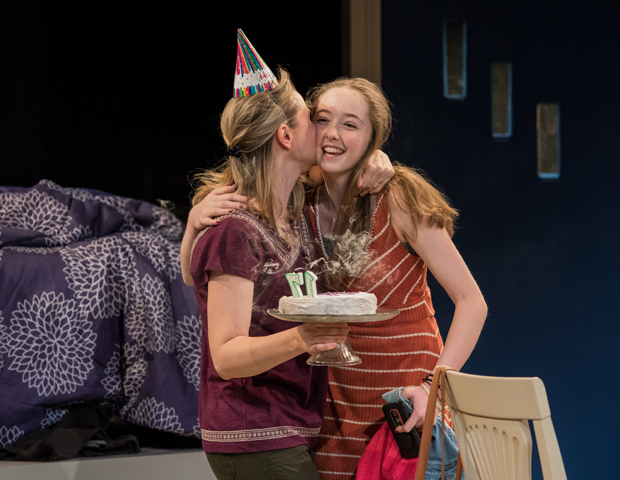 DeAnna Lenhart and Alexa Shae Niziak star in Scott Organ's The Thing With Feathers, directed by Seth Barrish, at the Barrow Group.