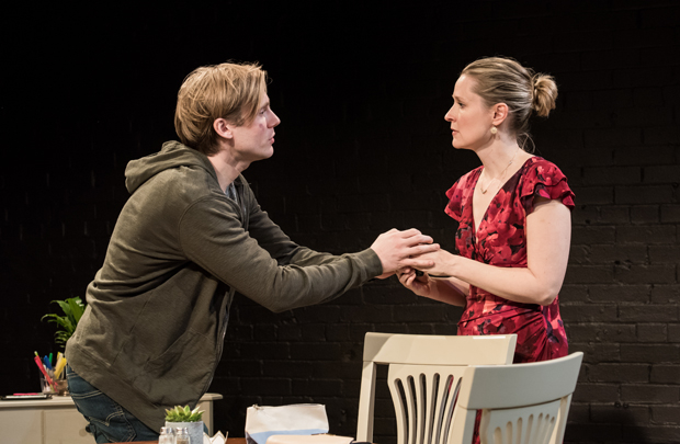 Zachary Booth plays Eric, and DeAnna Lenhart plays Beth in The Thing With Feathers.