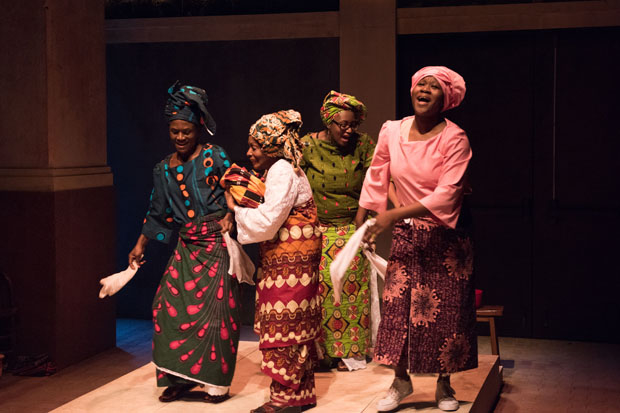 Patrice Johnson, Vinie Burrows, Ebbe Bassey, and Zenzi Williams plays Kelechi's relatives in The Homecoming Queen.