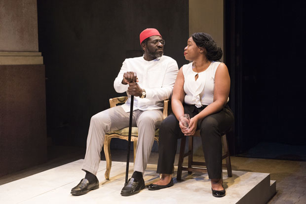 Oberon K.A. Adjepong plays Papa, and Mfoniso Udofia plays Kelechi in The Homecoming Queen.