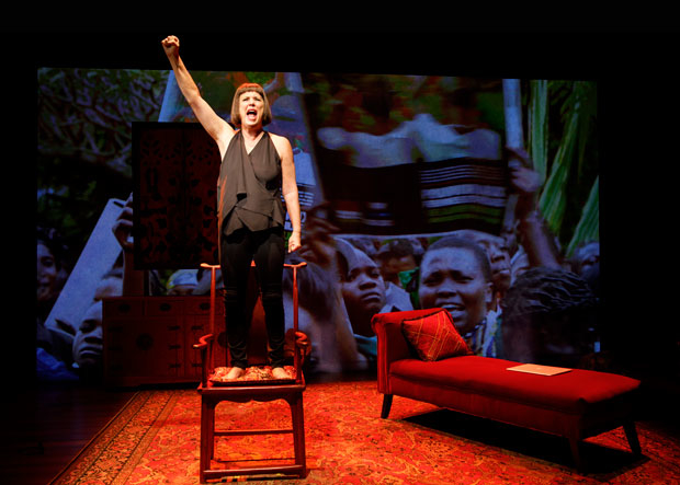 Eve Ensler is a scene from In the Body of the World.
