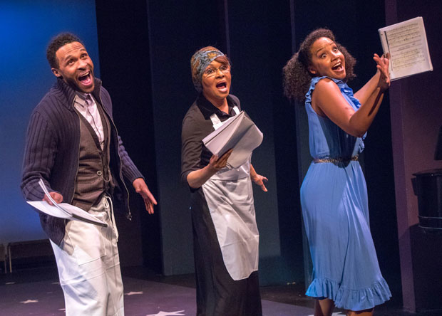 Jarren Muse, Vivian Reed, and Stephanie Umoh star in Hallelujah, Baby! at York Theatre Company.
