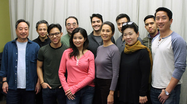 The company of Pan Asian Repertory Theatre's No-No Boy meet the press.