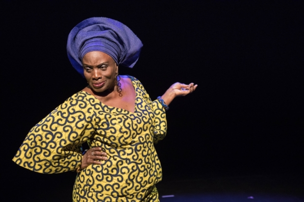 Taiwo Ajai-Lycette in Hear Word! Naija Woman Talk True, cowritten and directed by Ifeoma Fafunwa, at the American Repertory Theater.