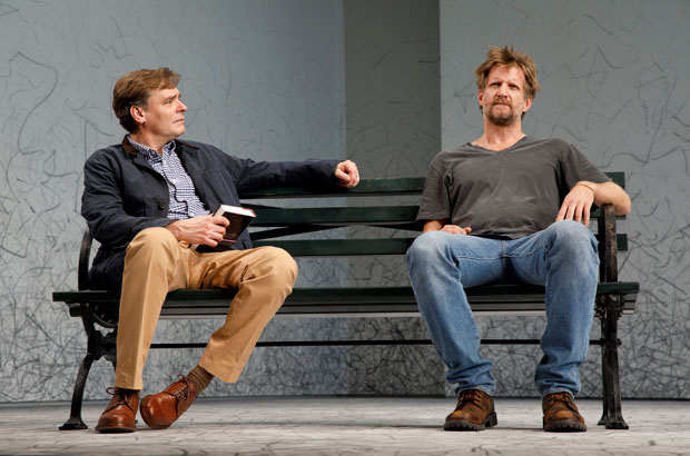 Robert Sean Leonard and Paul Sparks star in Edward Albee's At Home at the Zoo at Signature Theatre.