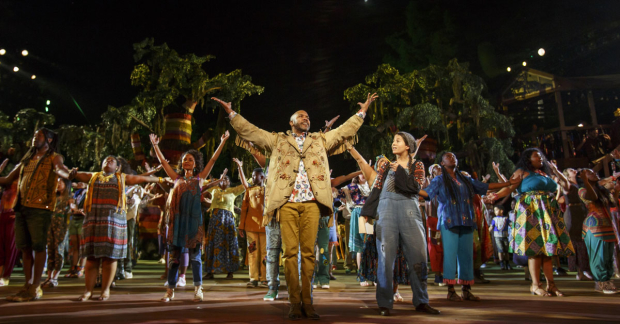 A scene from Shaina Taub and Laurie Woolery's As You Like It at the Delacorte Theater.