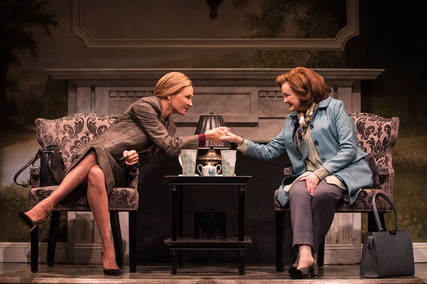 Uma Thurman and Blair Brown in a scene from The Parisian Woman.
