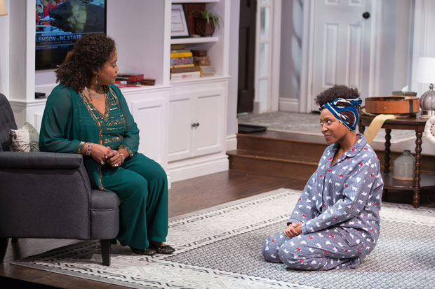 Twinkle Burke and Shannon Dorsey in Danai Gurira's Familiar, directed by Adam Immerwahr, for Woolly Mammoth Theatre.