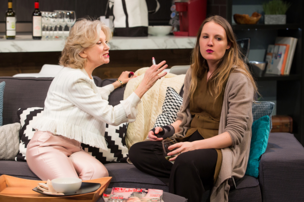Hayley Mills and Gina Costigan as Carmel and her daughter Mollie Mae in a scene from the New York premiere of Party Face.
