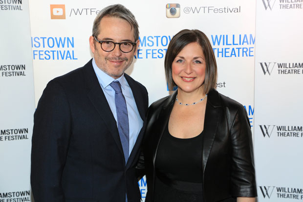 Matthew Broderick and Williamstown Theatre Festival artistic director Mandy Greenfield celebrate at the WTF annual gala.