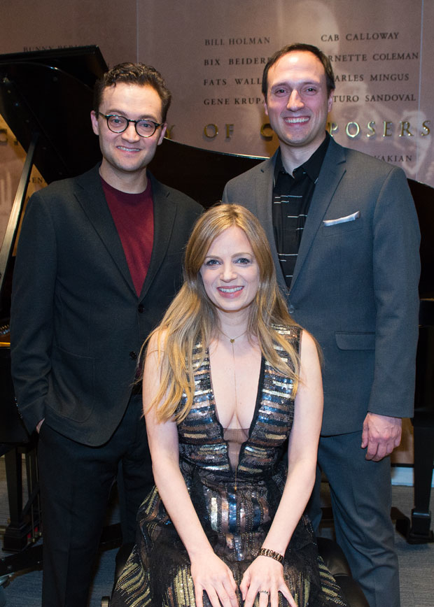 Lyricists Alan Schmuckler and Amanda Yesnowitz and librettist Christian Duhamel received Kleban Prizes in a private ceremony on February 5.