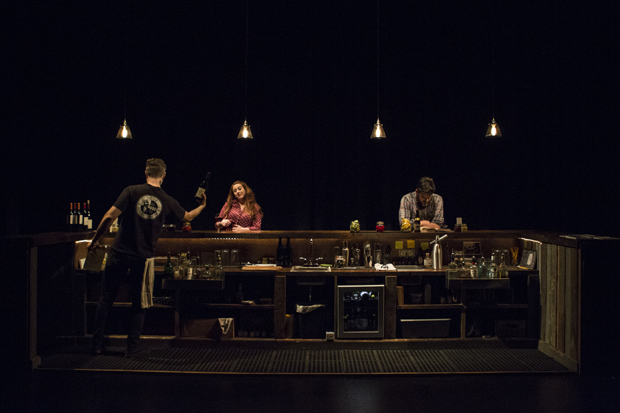 Kristen Robinson designed the set for Kate Benson's [PORTO] at WP Theater.