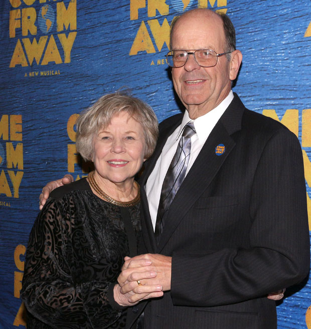Diane and Nick Marson at the opening of Come From Away on Broadway.