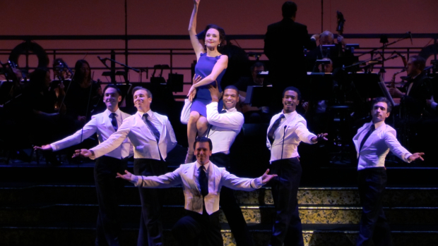 Bebe Neuwirth and the cast of Hey, Look Me Over!