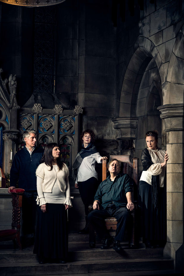 Paula Plum, Mara Sidmore, Michael Forden Walker, Jennie Israel, and Steven Barkhimer star in William Shakespeare's Richard III, directed by Robert Walsh for Actors' Shakespeare Project.
