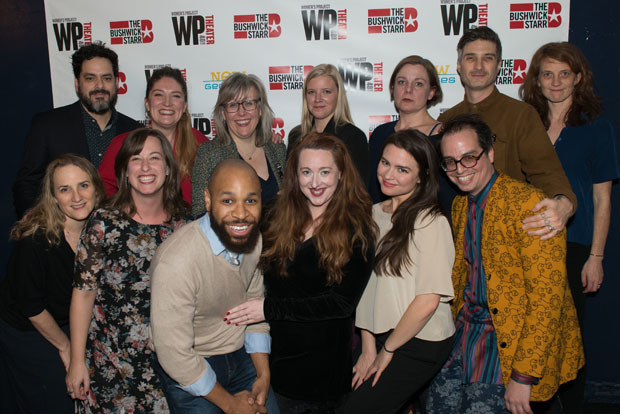 The company of [PORTO] celebrate opening night at WP Theater.