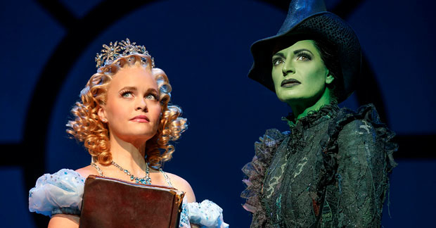 Amanda Jane Cooper and Jackie Burns in Wicked, set to become the 7th longest-running show in Broadway history.