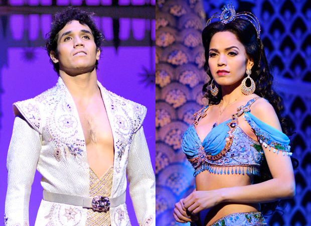 Adam Jacobs and Arielle Jacobs as Aladdin and Jasmine in Aladdin.