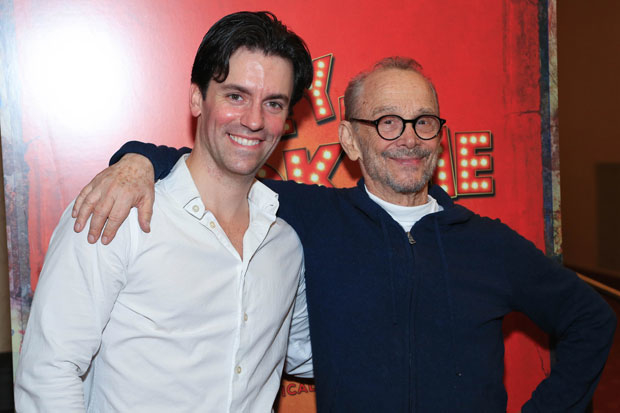 Clyde Alves and Hey, Look Me Over special guest star Joel Grey buddied up for closing night.
