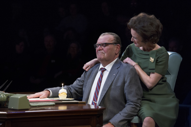 Jack Willis (President Lyndon Baines Johnson) and Susan Rome (Lady Bird Johnson) in Robert Schenkkan's The Great Society, directed by Kyle Donnelly, at Arena Stage.