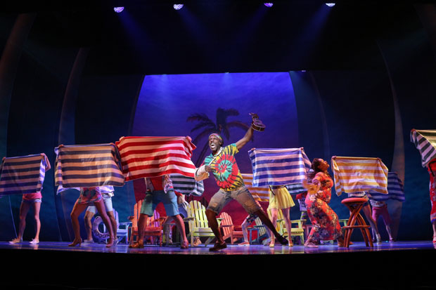 Andre Ward in a scene from Escape to Margaritaville on Broadway.