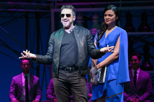 Raul Esparza and Karen Olivo in a scene from Chess.