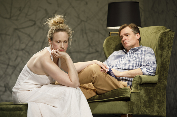 Katie Finneran plays Ann, and Robert Sean Leonard plays Peter in At Home at the Zoo.