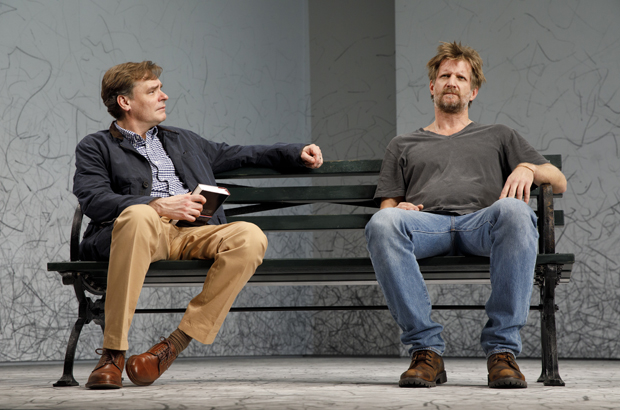Robert Sean Leonard and Paul Sparks star in Edward Albee's At Home at the Zoo, directed by Lila Neugebauer, at Signature Theatre.