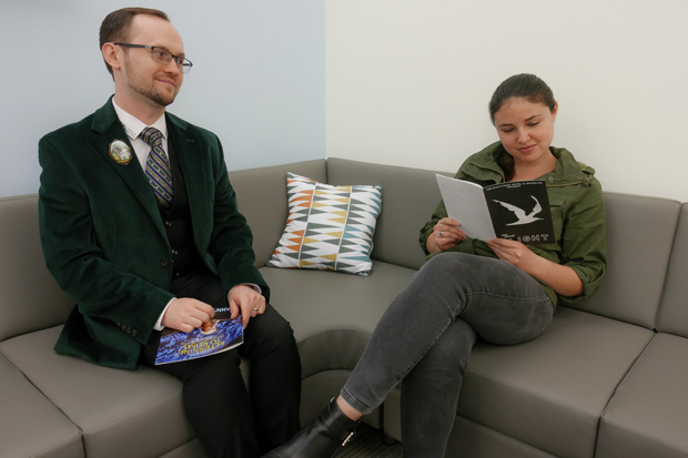 Zachary Stewart and Hayley Levitt sit down with the show programs of a couple of the shows they've seen recently.